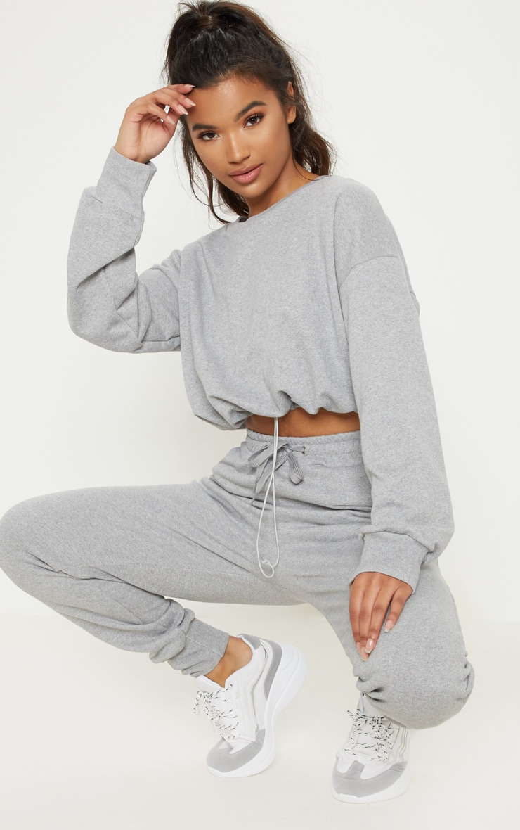 Grey Basic Gym Sweat Top 5