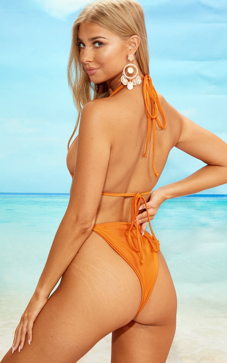 Orange Minimal Triangle Bikini Set 2