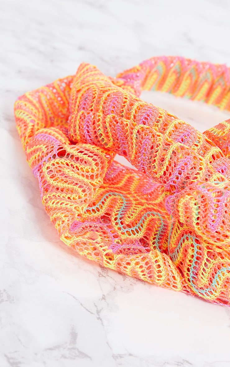 Orange Neon Crochet Headband 5