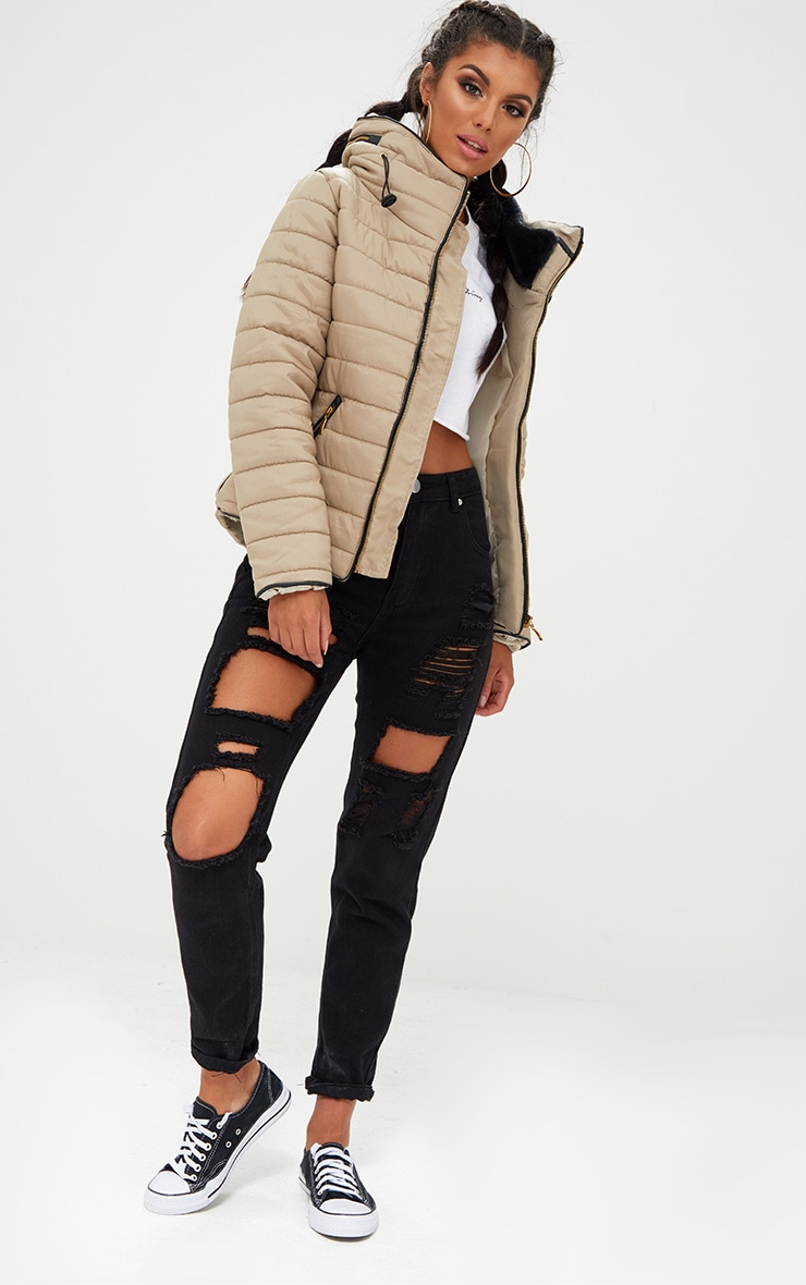 Mara Stone Puffer Jacket 4
