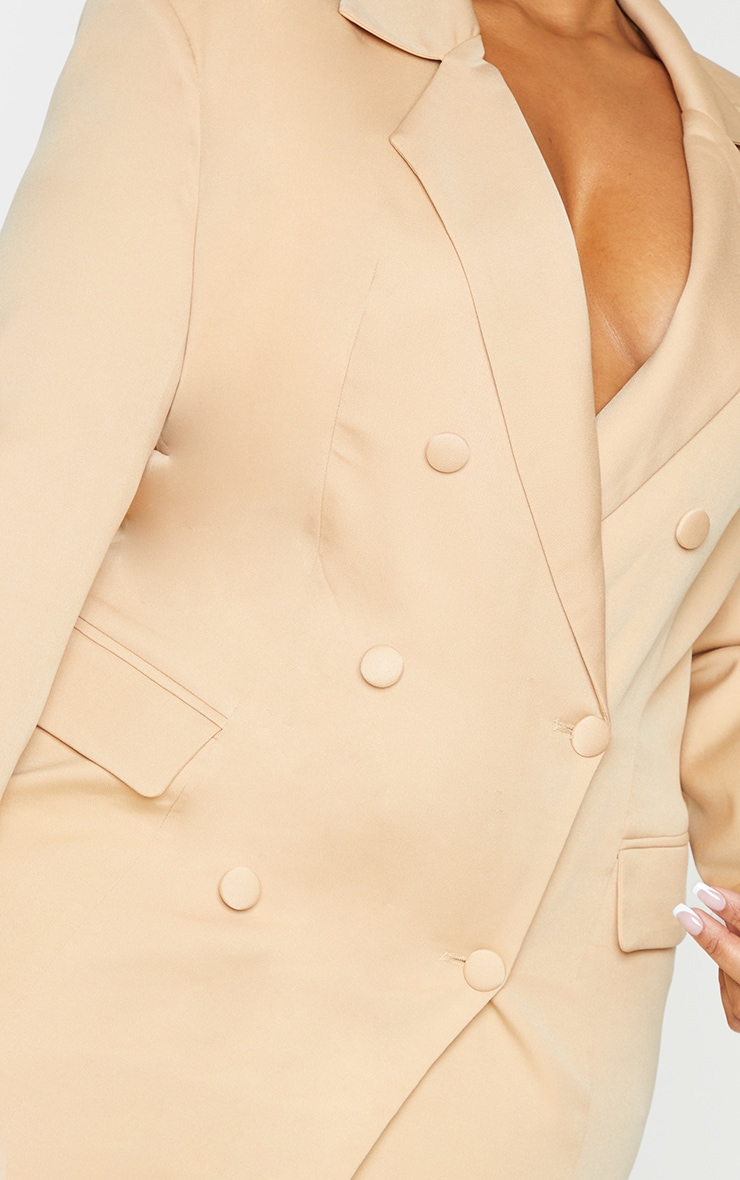 Plus Stone Double Breasted Structured Blazer Dress 4