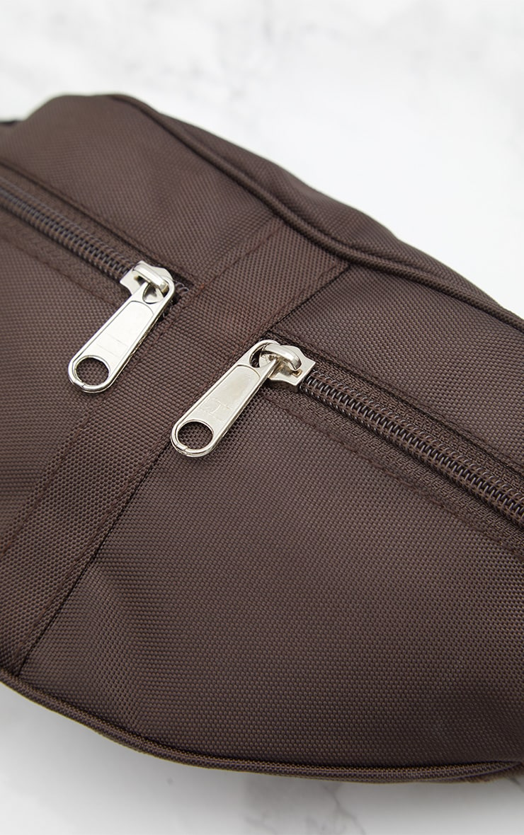 Mocha Double Zip Bum Bag 4