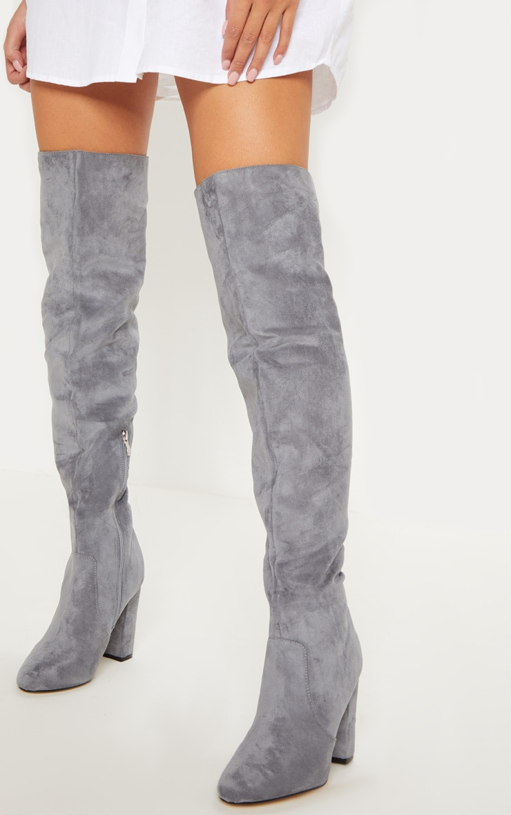 Grey Over The Knee Behati Boot 2