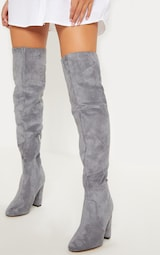 Grey Over The Knee Behati Boot 2