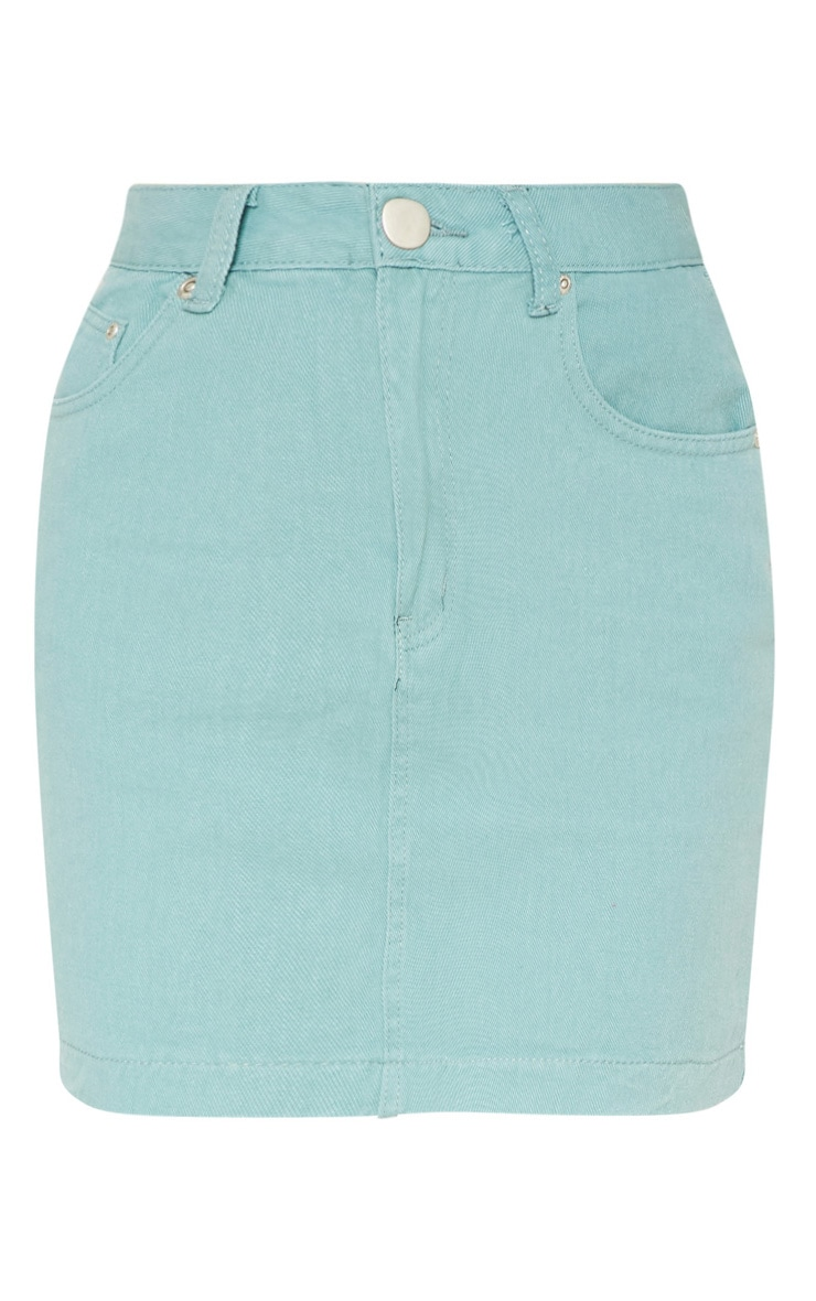 Green Denim Skirt 3