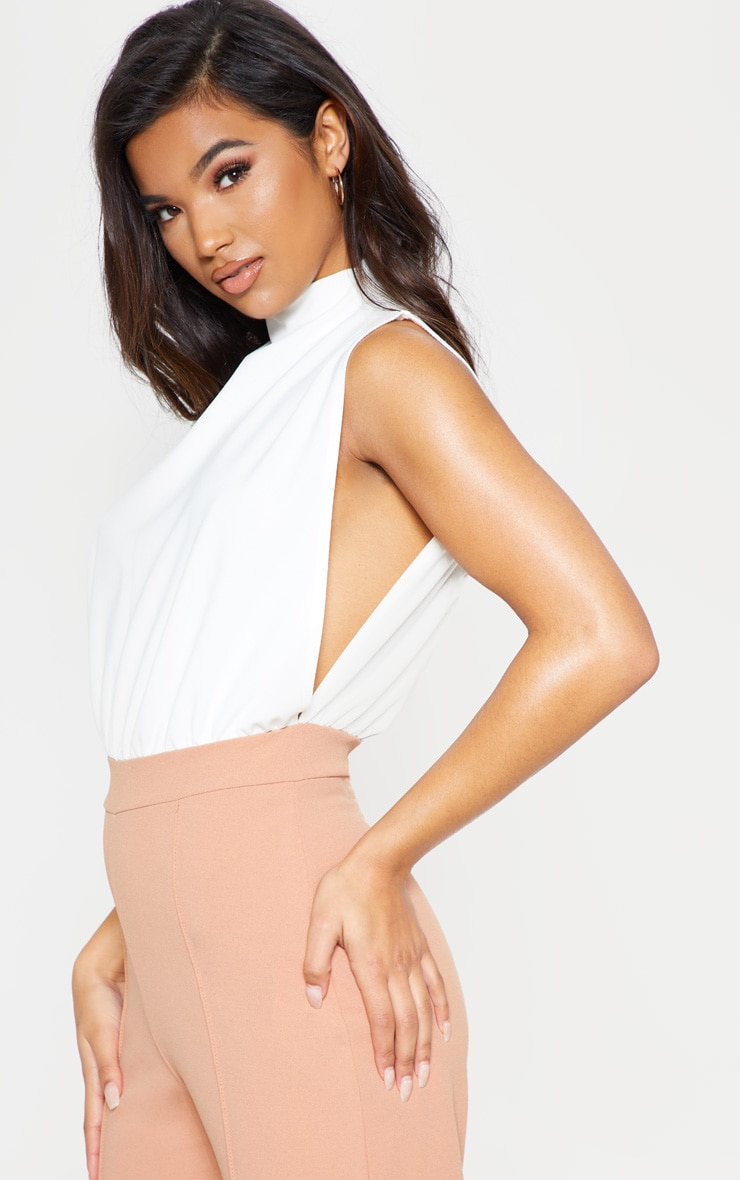 Nude High Neck Wide Leg Jumpsuit 5