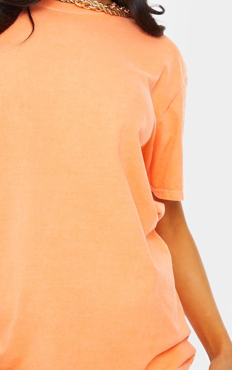 Tangerine Washed Oversized T Shirt 4