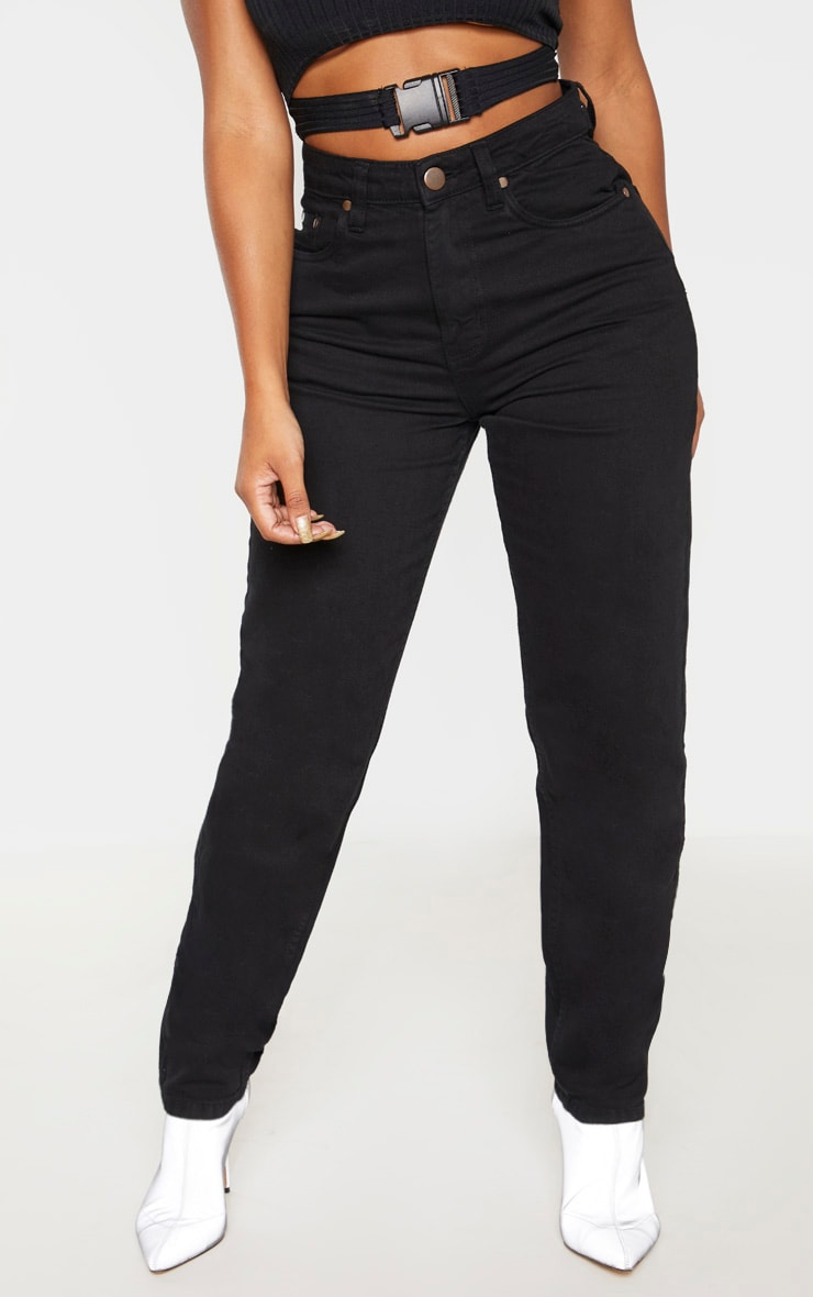 Shape Black Mom Jeans 2