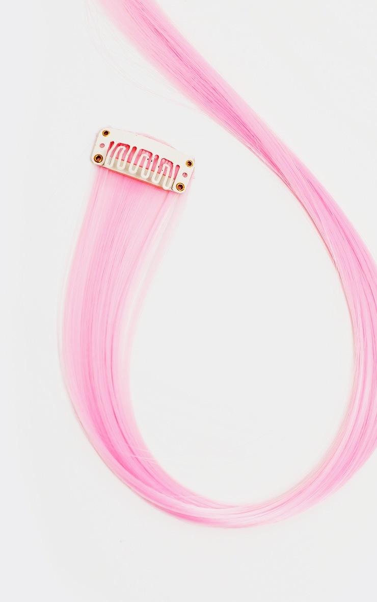 SHRINE - Lot de 4 extensions de cheveux rose tendre 2