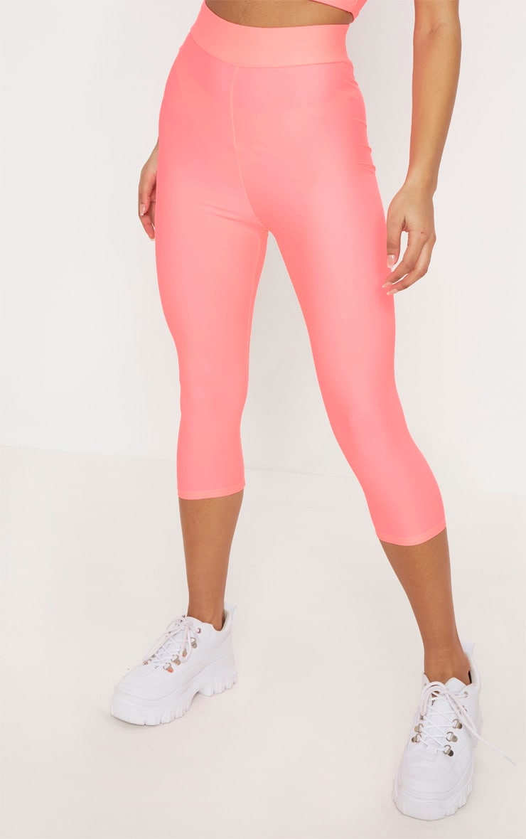 Pink Basic Cropped Gym Legging 2
