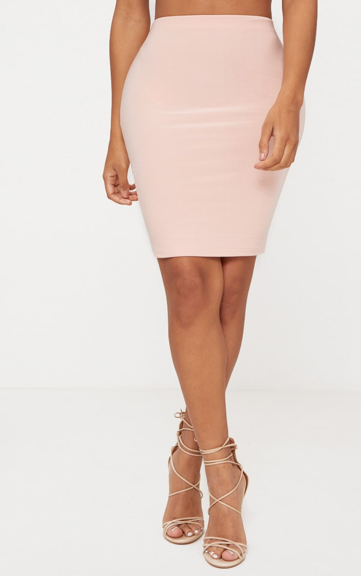 Shape Nude Slinky Bodycon Skirt 2