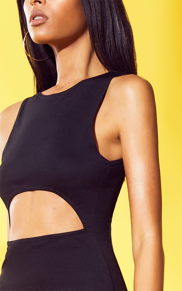 Black Cut Out Bodycon Dress 5