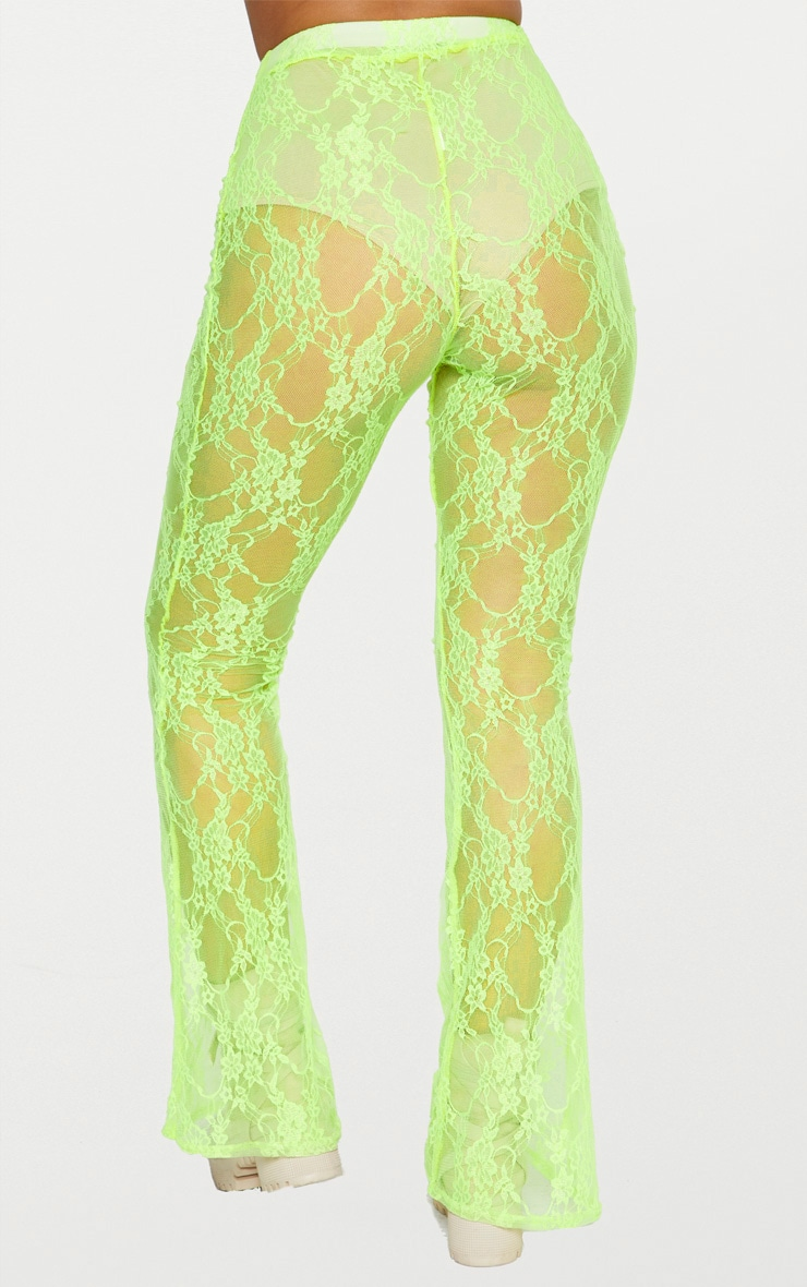 Lime Lace Flared Pants 5