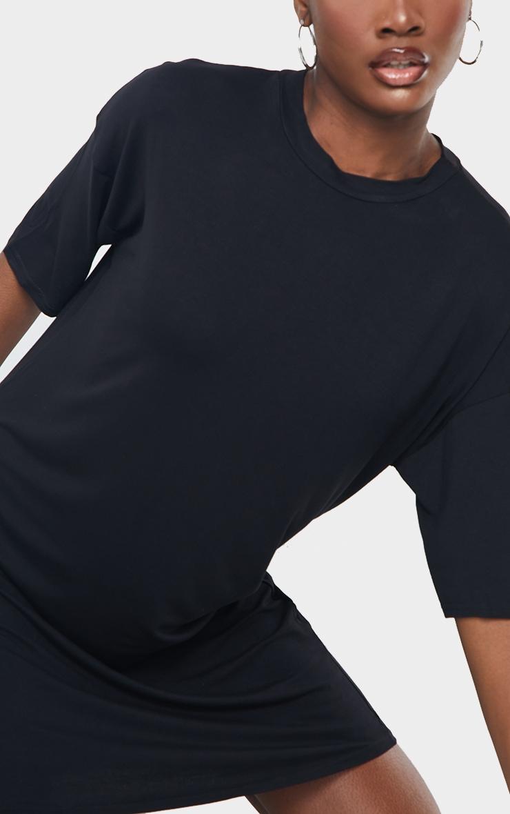 Tall Black Oversized T-shirt Dress 5