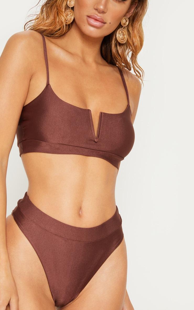 Chocolate V-Wire Bikini Top 5