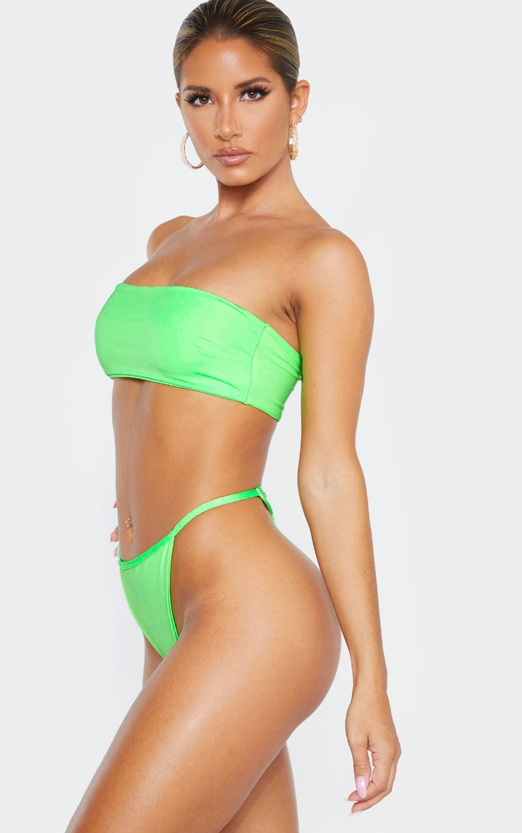 Lime Mix & Match String Thong Bikini Bottom 2