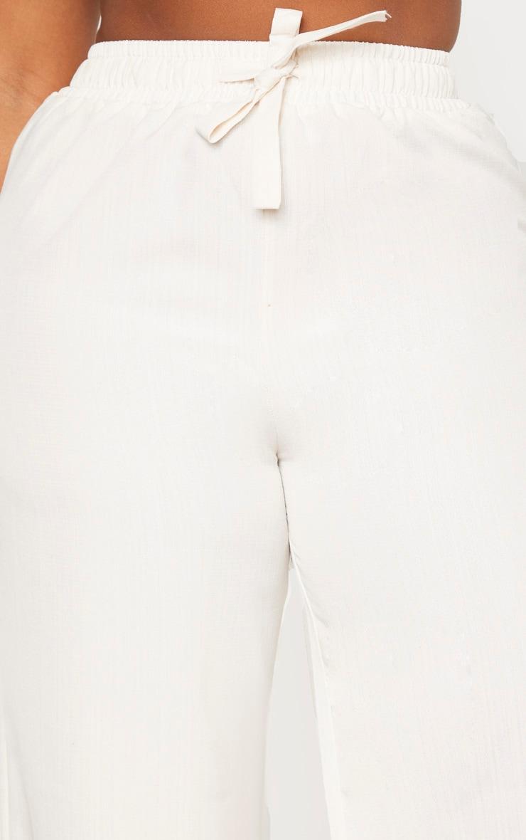 Plus Stone Woven Wide Leg Tie Waist Pants  5