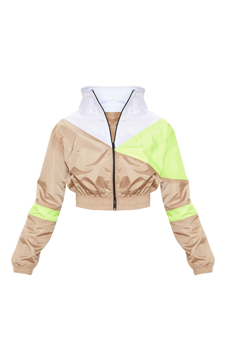 Camel Color Block Tracksuit Jacket 3