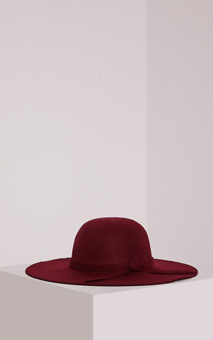 Rika Burgundy Floppy Hat 3