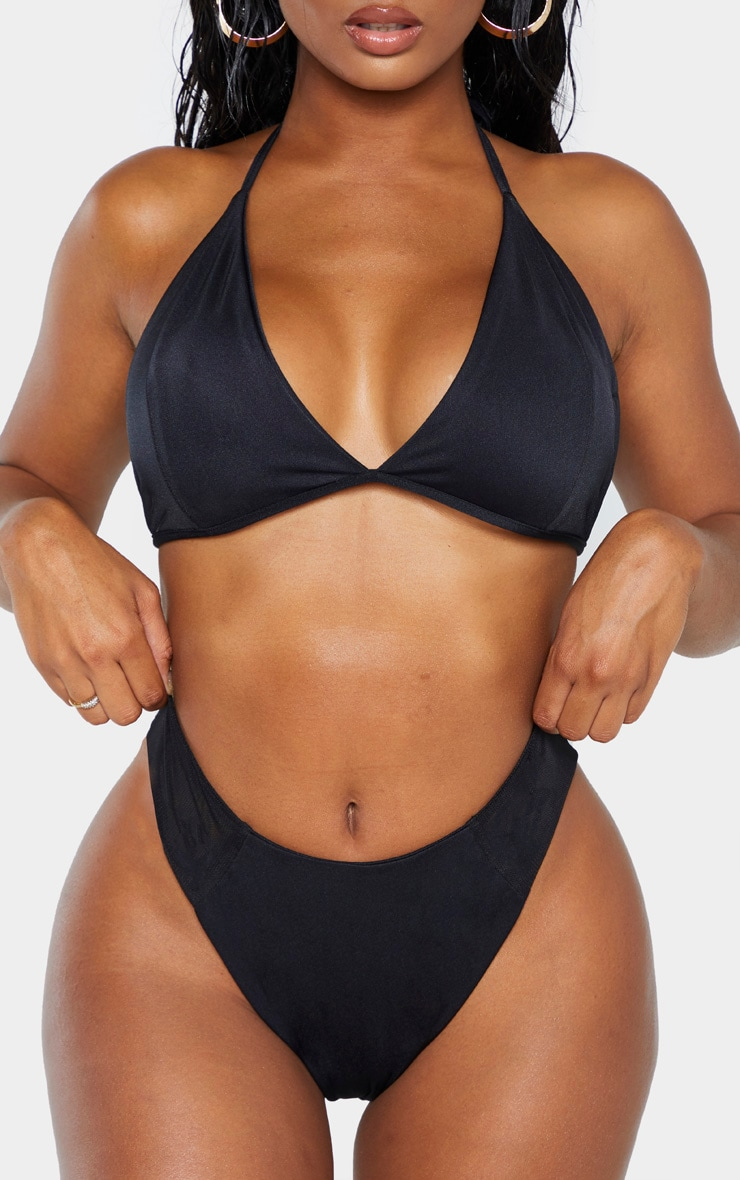 Shape Black Mesh High Side Bikini Bottom 6