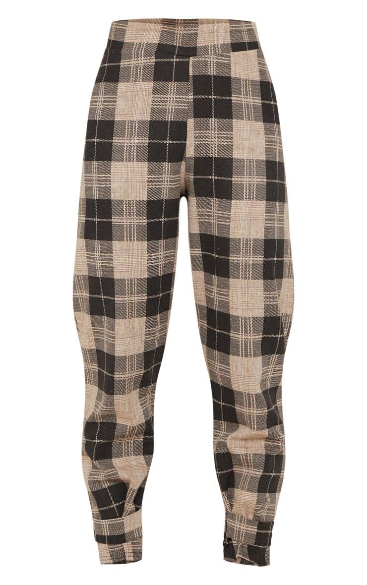 Monochrome Check Peg Leg Pants 3