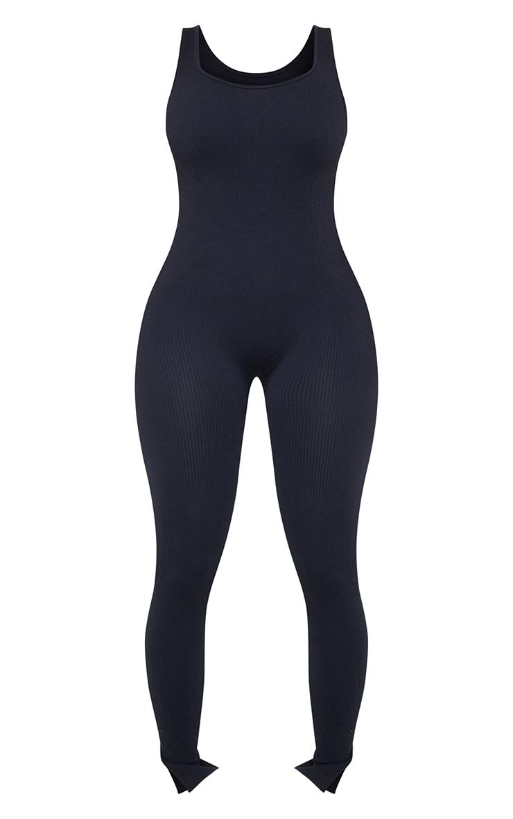 Shape Black Contour Ribbed Scoop Neck Jumpsuit 5