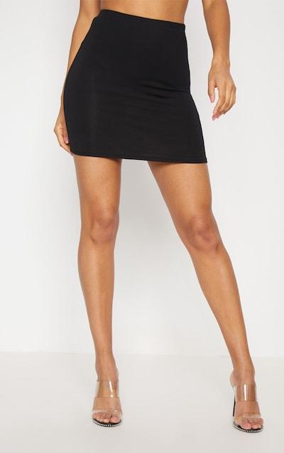Basic Black Jersey Mini-Skirt