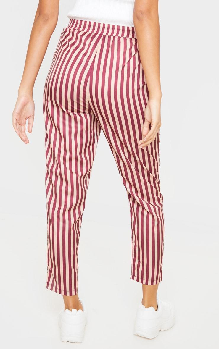 Rust Stripe Casual Pants 4