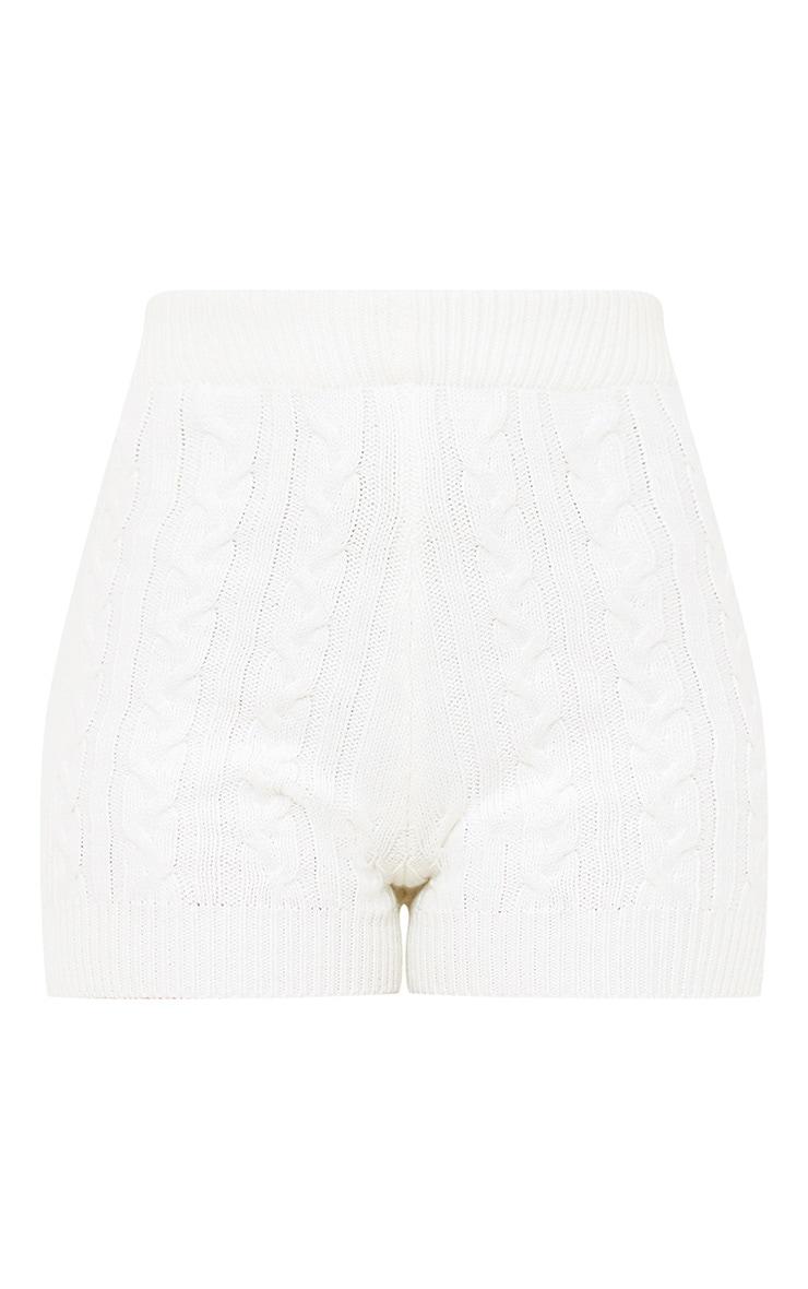Cream Knit Short 3