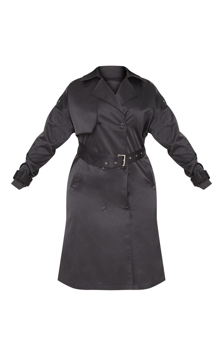 Plus Black Trench Coat 3