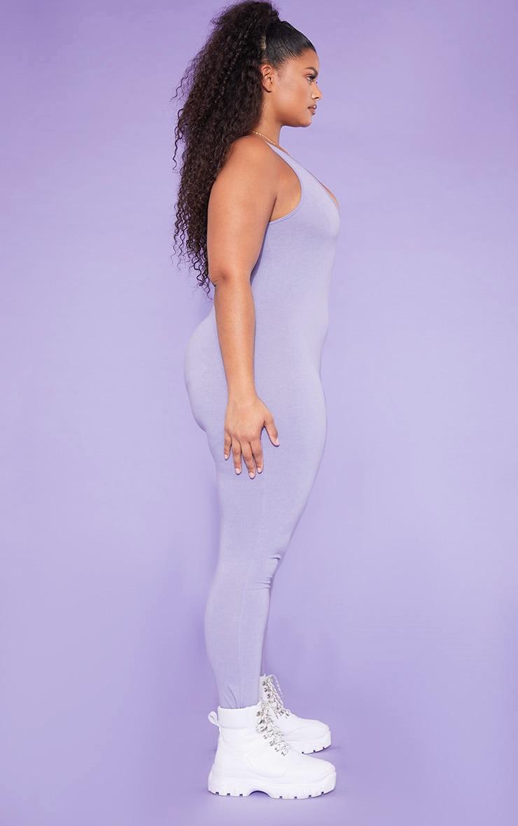 RECYCLED Plus Violet Scoop Neck Jumpsuit 3