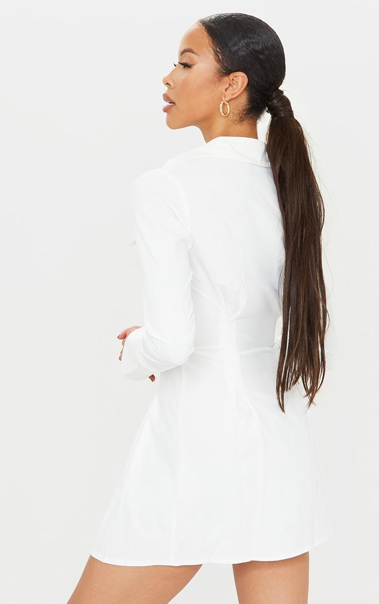 Tall - Robe chemise cintrée blanche à poches cargo 2