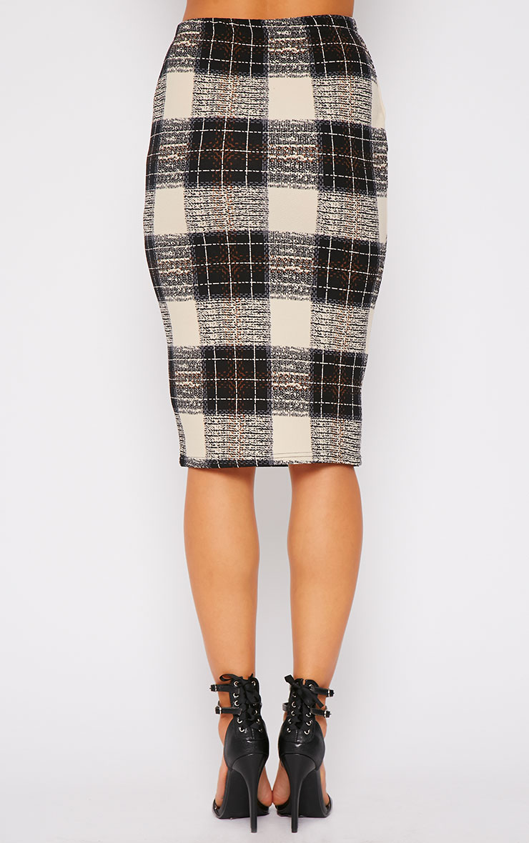 Avelyn Checked Midi Skirt  2
