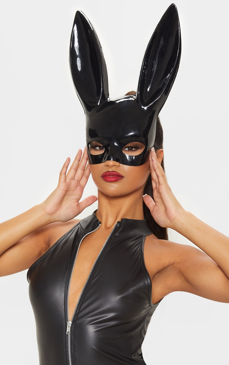 Black Larger Bunny Mask  by Prettylittlething