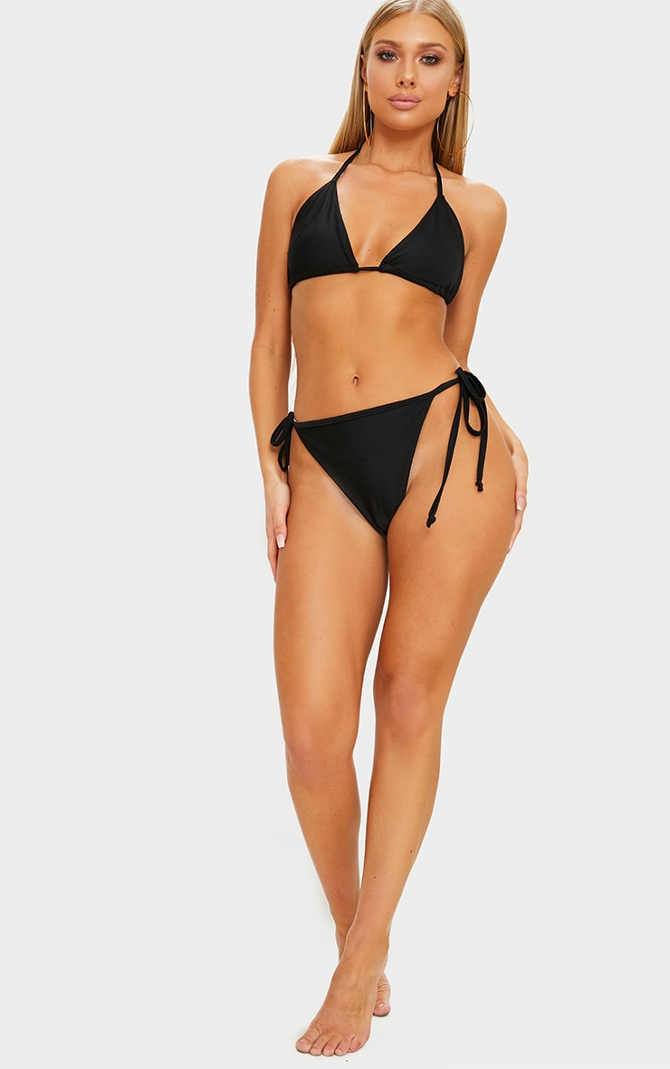 Black Mix & Match Triangle Bikini Top 4