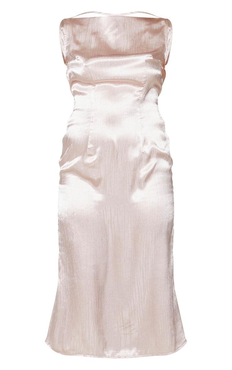 Nude Cowl Back Midi Slip Dress 5