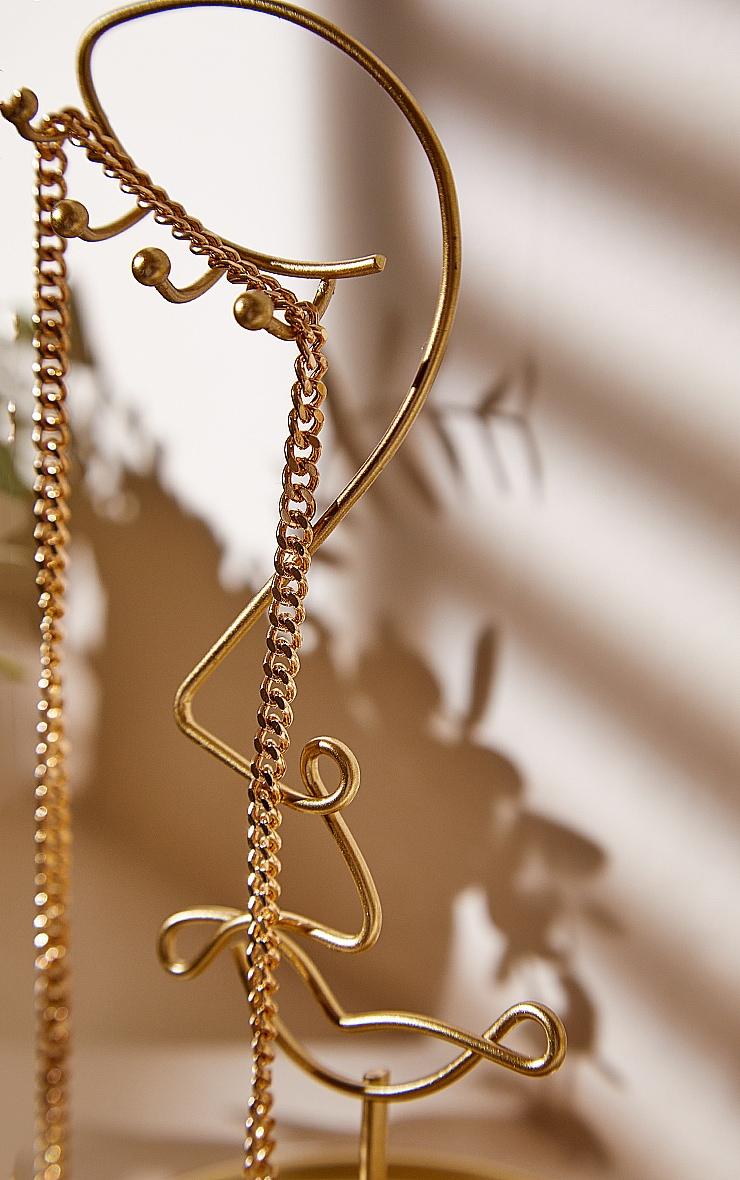 Porte-bijoux abstrait doré 2