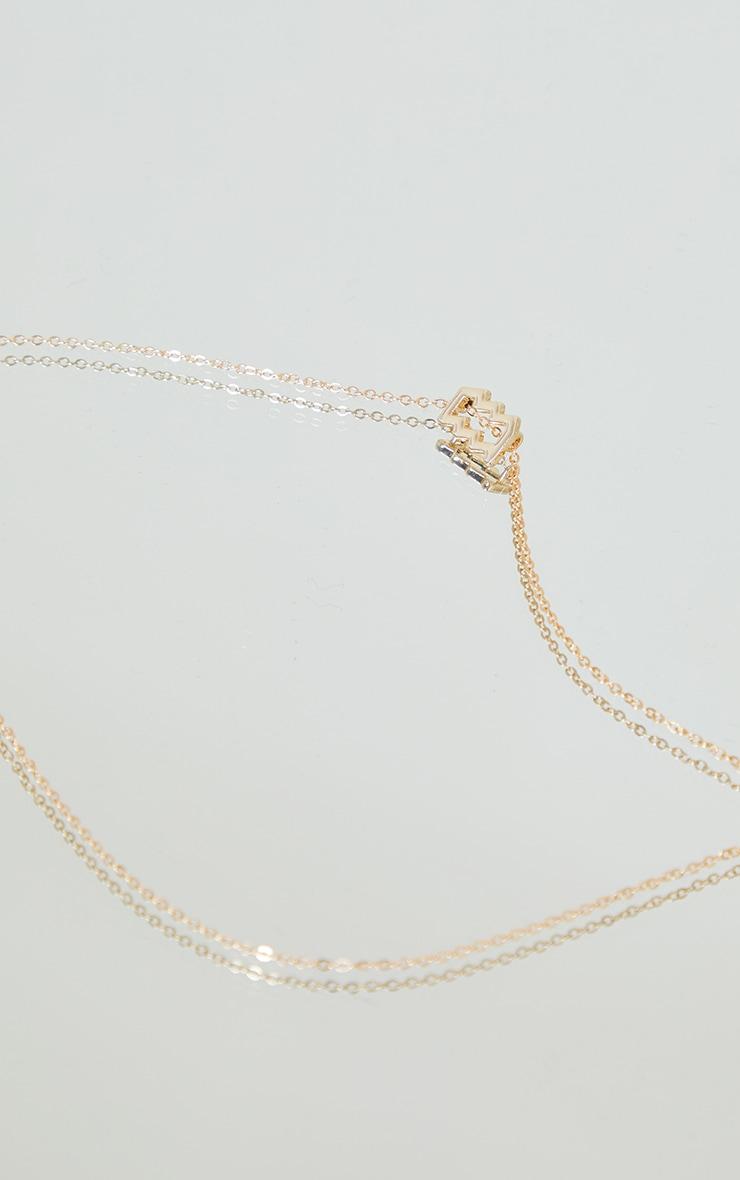 Gold Aquarius Star Sign Necklace 3