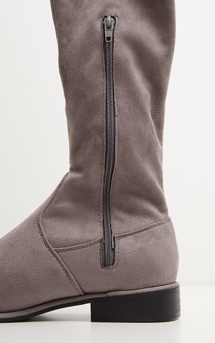 Grey Flat Over The Knee Boot 3