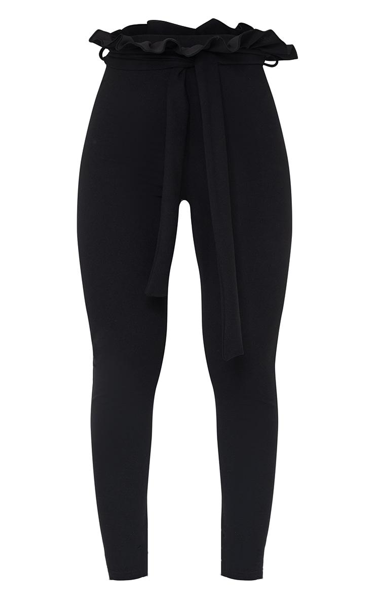 Perlita Black Paperbag Skinny Trousers 5