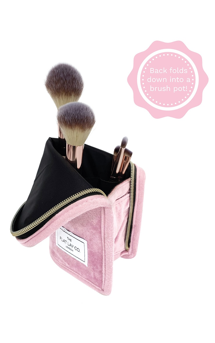 The Flat Lay Co Standing Brush Case Pink Velvet 4