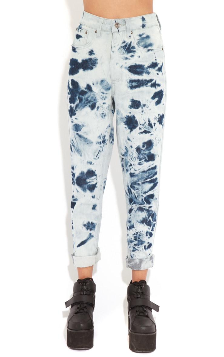 Drew Blue Tie Dye Mom Jeans 3