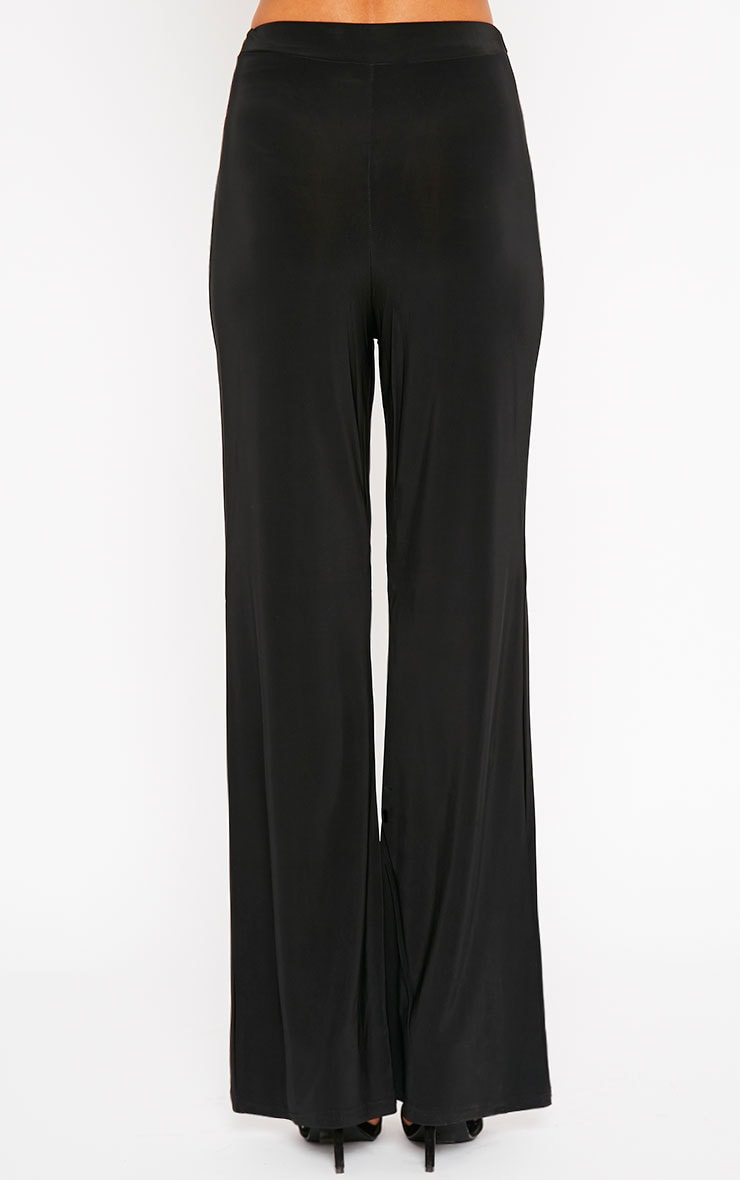 Remi Black Soft Touch Wide Leg Trousers 4