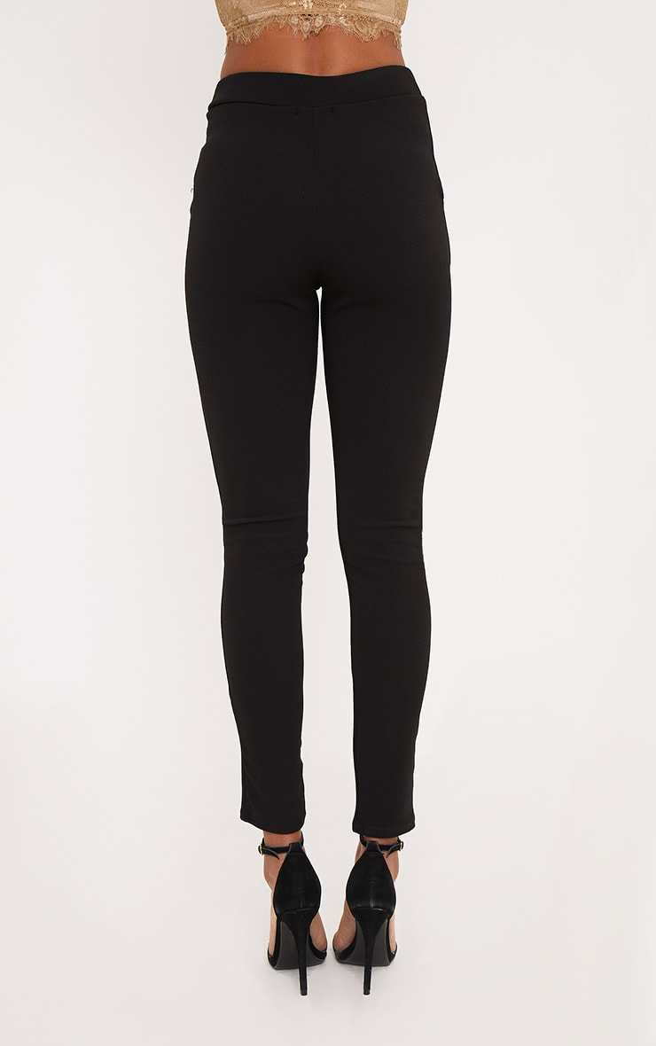 Sage Black Crepe Skinny Trousers 4