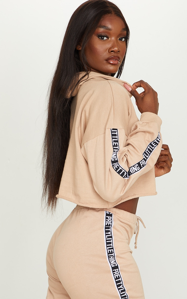 PRETTYLITTLETHING Tall Stone Cropped Hoodie 2
