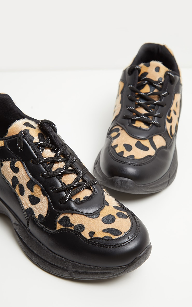 Brown Leopard Chunky Sneakers  4
