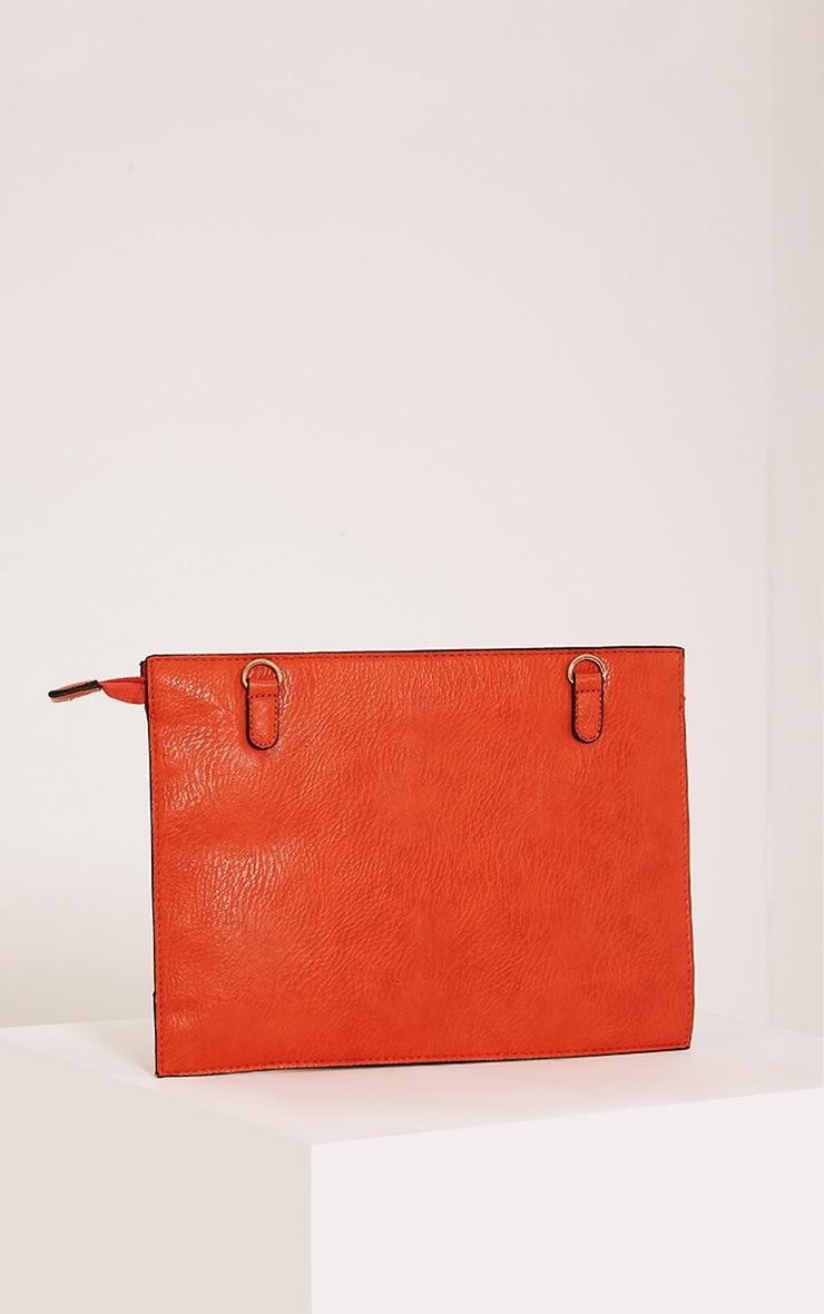 Tay Coral Zip Detail Clutch Bag 3