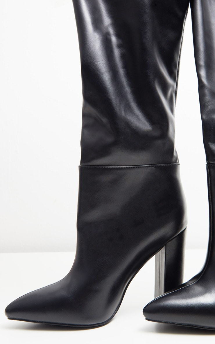 Black Western Thigh High Boot  5