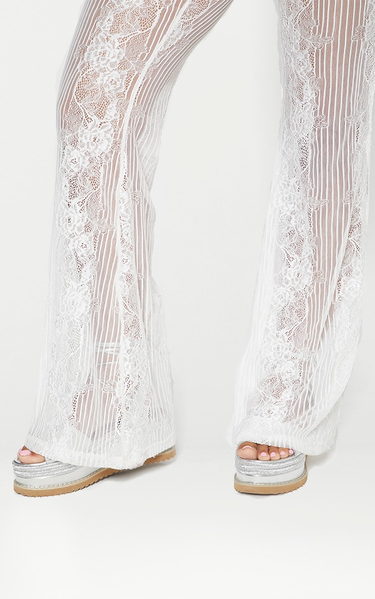 White Lace Insert Beach Flares 4