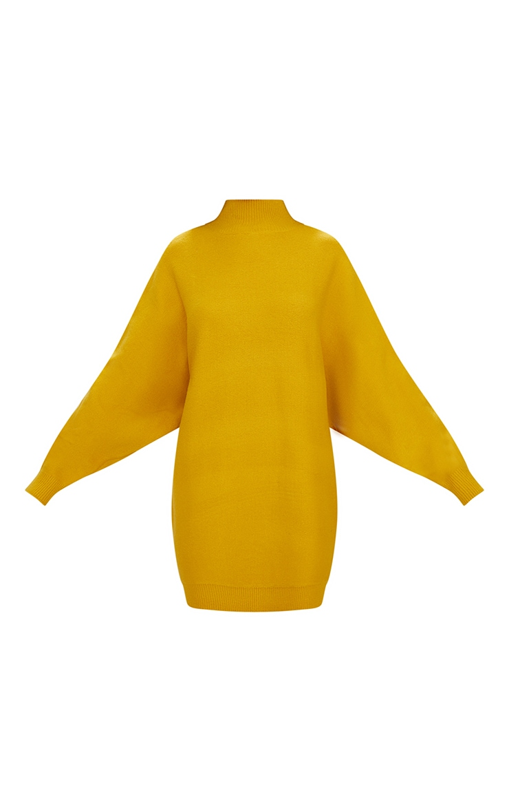 Mustard Oversized Jumper Dress 3